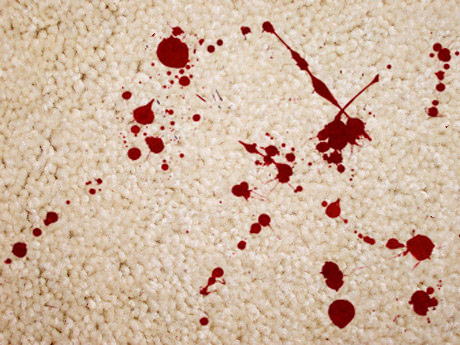 removing blood from carpets